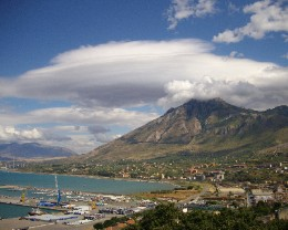 Photo: The view of the harbor from the 'upper town' in Termini Imerese. Credit: Lisa Borre.