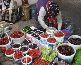 Photo: The colorful women's market in Amasra, Turkey. Credit: Lisa Borre.