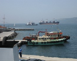 Photo: Ships on the Bosphorus in Turkey. Credit: Lisa Borre.