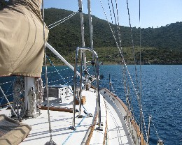 Photo: Tayana 37 Gyatso at anchor in Dirsek, Turkey.
