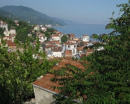 Photo: The view from the hillside above the harbor in Inebolu. Credit: Lisa Borre.