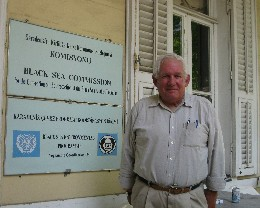 Photo: David Barker at the Black Sea Commission in Istanbul. Credit: Lisa Borre.