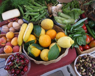 Photo: Fresh fruits and vegetables from the market in Vibo Valentia, Italy. Credit: Lisa Borre.