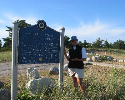 Photo: Lisa Borre at Whitefish Point, Lake Superior. Credit: D.R. Barker.