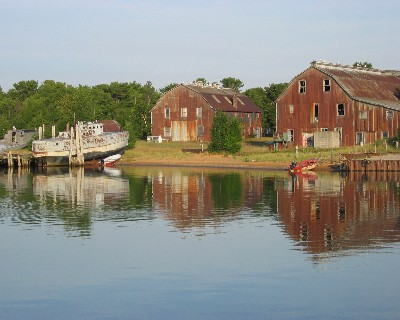 Photo: Whitefish Point Harbor of Refuge, Lake Superior. Credit: L. Borre.