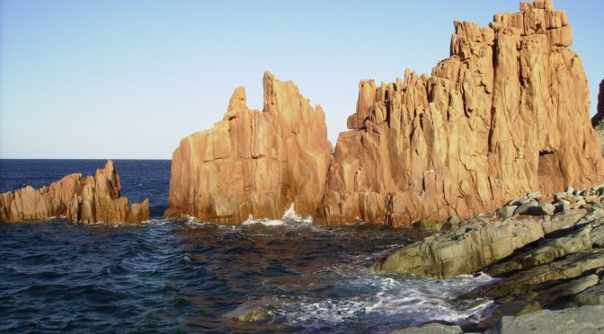 Photo: Red Rocks in Arbatax, Sardinia, Italy. Credit: Lisa Borre