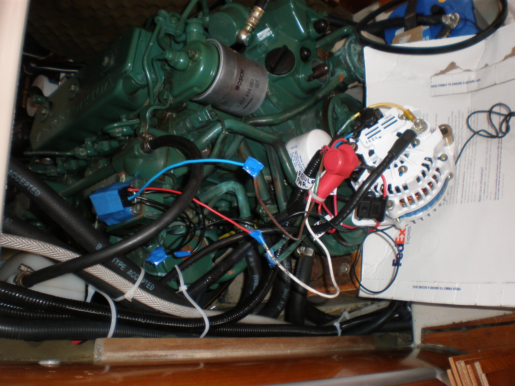 Boat Projects Gybethejib High Amp Alternator Wiring Diagram Up The New Balmar