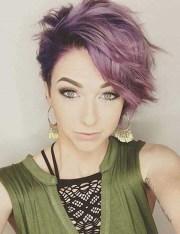 gorgeous purple hairstyles