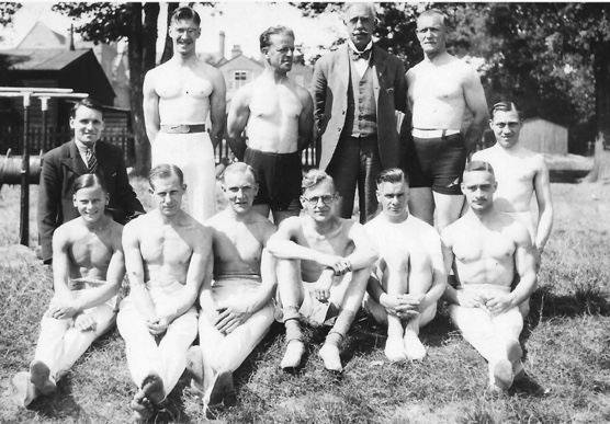 1936, the men training at Sutton Coldfield in preparation for Olympics; they never went