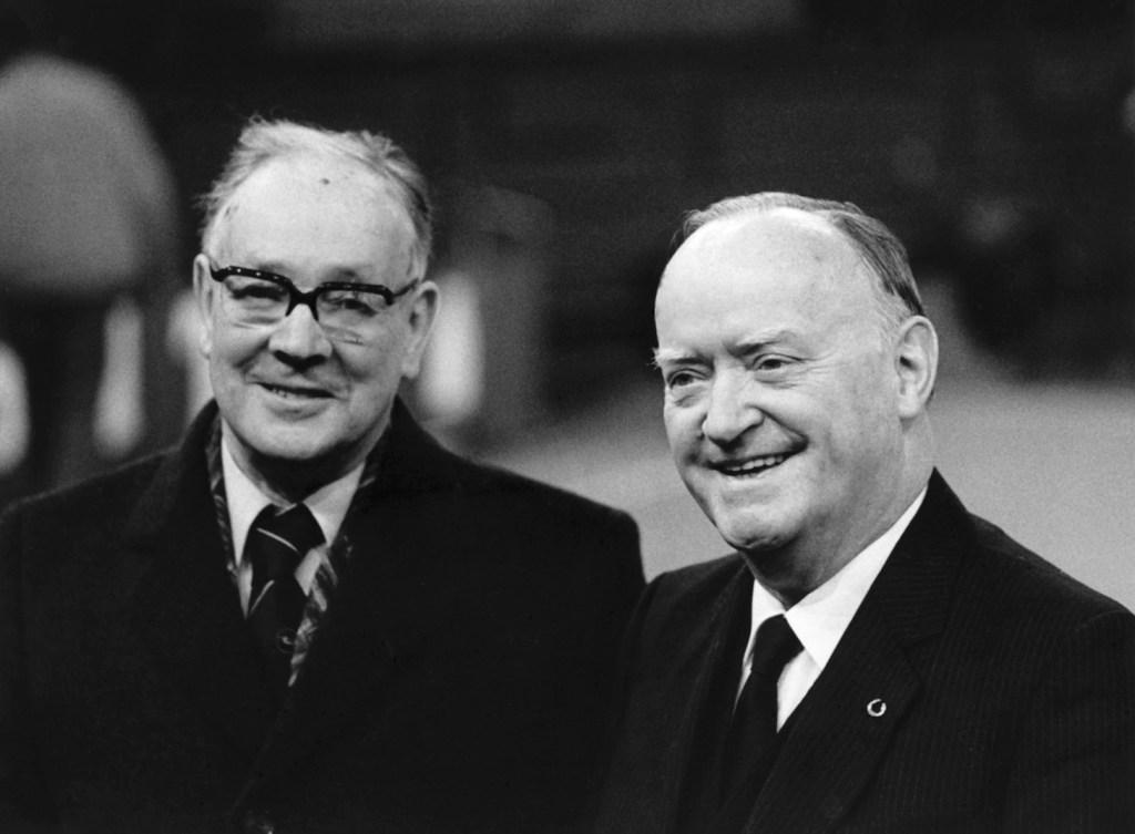 Frank Edmonds with Max Bangerter