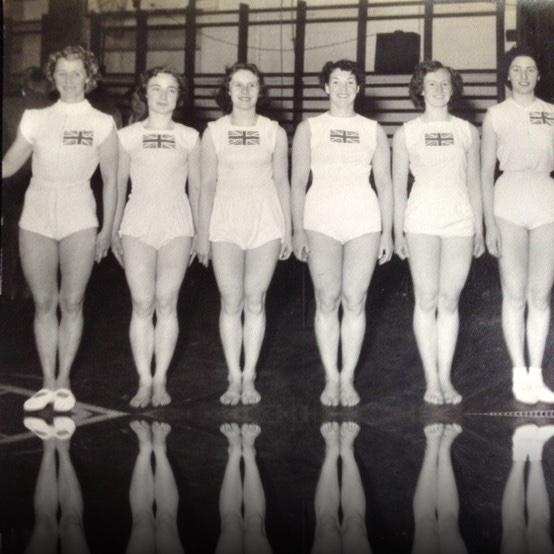 British Women's Gymnastics Team 1956