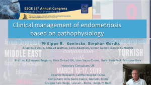 Pahtophsyiology of endometriosis