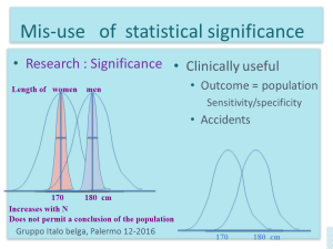 Statistical signigicant is not sufficient to make a test