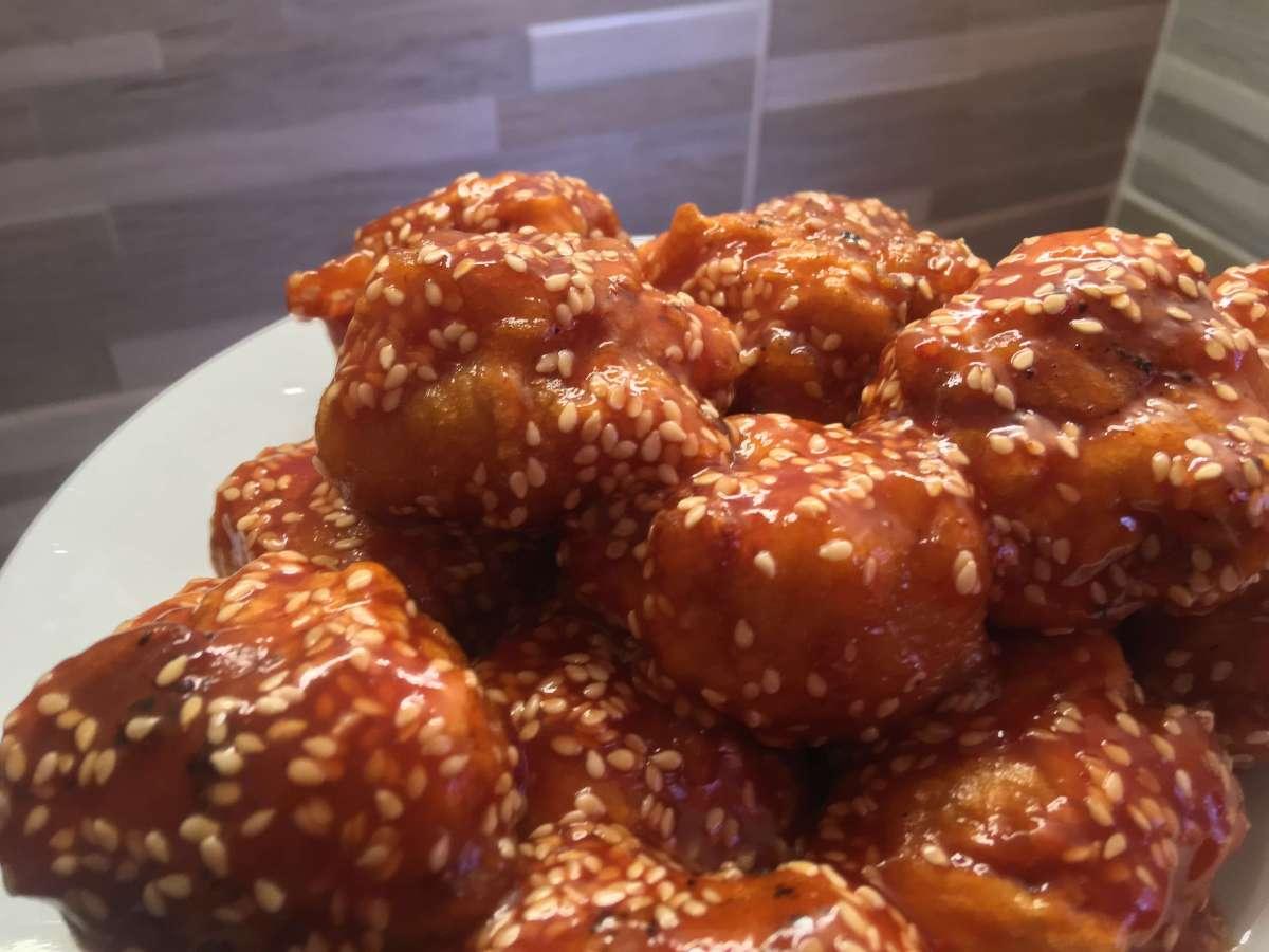 szezámmagos csirkemell