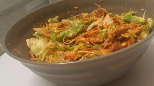 paradicsomos csirkemell saláta