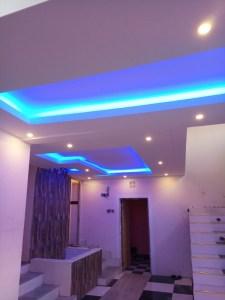 Gypsum ceiling design stairs