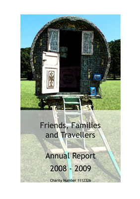 thumbnail of cover for 'Friends, Families and Travellers Annual Report 2008-2009'