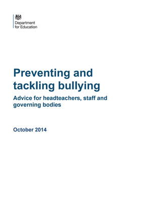 thumbnail of report cover for 'Preventing and tackling bullying, advice for headteachers, staff and governing bodies'