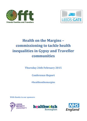 thumbnail of report cover for 'Health on the Margins - commissioning to tackle health inequalities in Gypsy and Traveller communities'