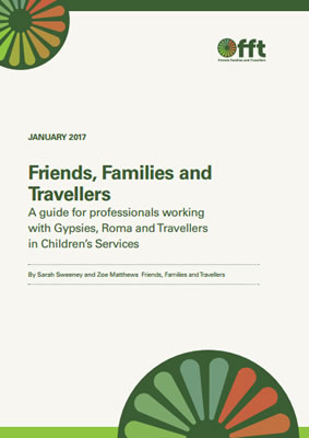 thumbnail of report cover for 'A guide for professionals working with Gypsies, Roma and Travellers in Children's Services' by FFT