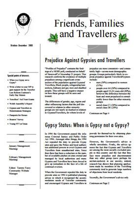 thumbnail of cover for 'Newsletter December 2003' FFT