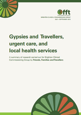 thumbnail of report cover for 'Gypsies and Travellers, urgent care, and local health services' by FFT