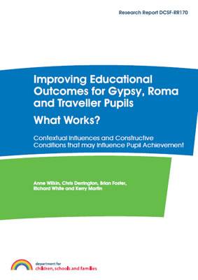 thumbnail of report cover for 'Improving Educational Outcomes for Gypsy, Roma and Traveller Pupils, What Works'