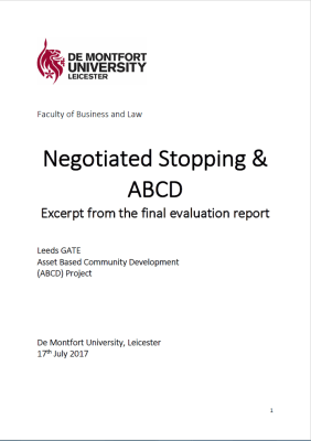 Thumbnail of front cover of 'Negotiated Stoping & ABCD' excerpt from the final evaluation report by Leeds GATE