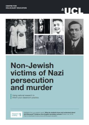 Picture of a flyer for 'Non-Jewish victims of Nazi persecution and murder'