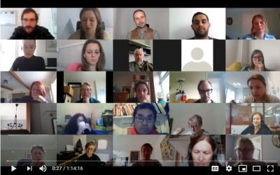 Picture of webinar participants for Friends Families and Travellers webinar on Supporting communities at the sharp edge of inequality during COVID-19