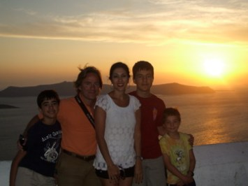 world famous sunset at Oia, Santorini