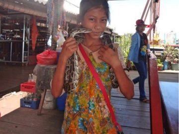 A girl in Siem Reap floating village