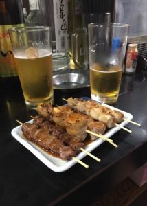 "Yakitori lunch in Omoide Yokocho ""Piss alley"""
