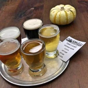 A light of beers at Faction Brewing in San Francisco