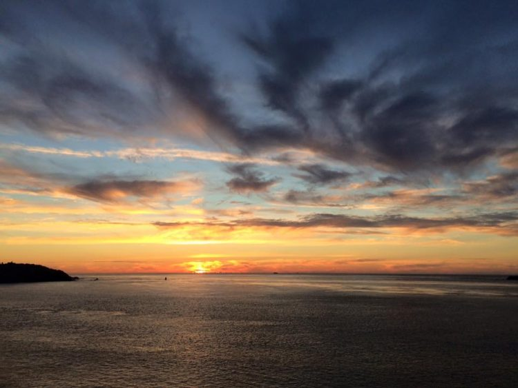 Beautiful California sunset from the PCH