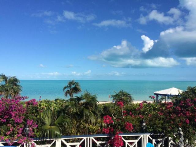 View from our Airbnb onTurks and Caicos