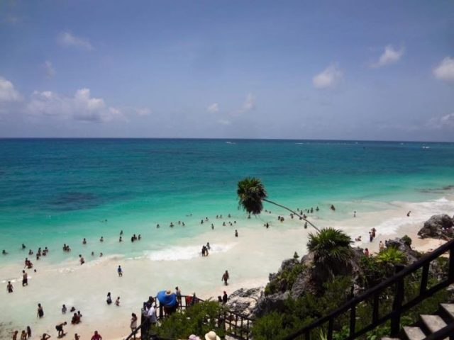Swimming at the Mayan Ruins in Tulum