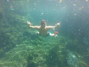 Grant in a Tulum Cenote