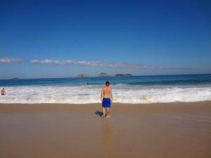 Grant at the Brazilian beaches in Rio Ipanema and Copacabana
