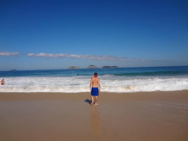 Grant at the Brazilian beaches in Rio Ipanema and Copacabana