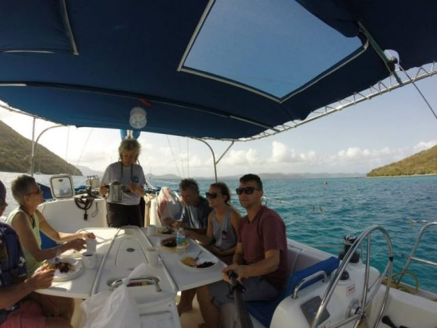 Chartering a boat in the islands