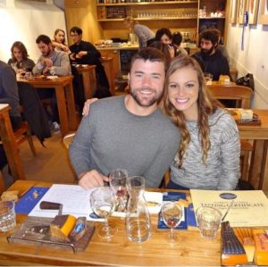 Grant and Rachel at Reypenaer Proeflokaal cheese tasting