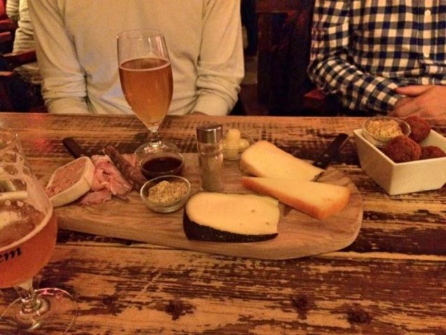 Cheese board at Gollems Proeflokaal