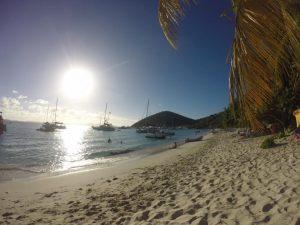 Beautiful beach in BVI's