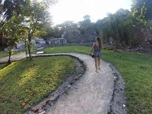 Rachel at Muyil Mayan Ruins