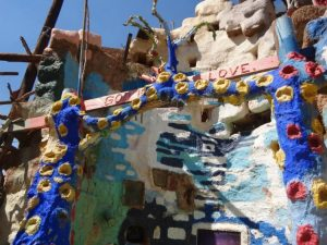 Outside Salvation Mountain