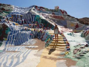 Rachel at Salvation Mountain