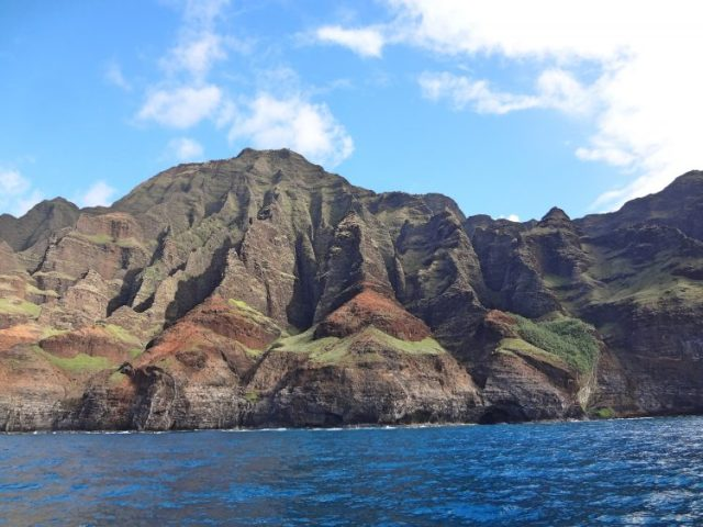 A view of the Napali coast