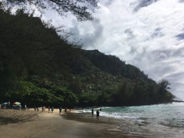 Ke'e Beach in Ha'ena State Park
