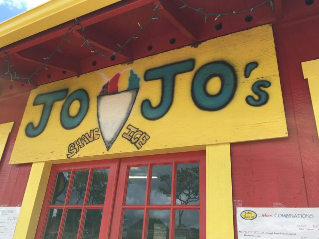 JoJo's Shave Ice on Kauai